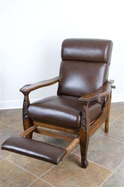 hand made beautiful antique morris chair reproduction by virginia
