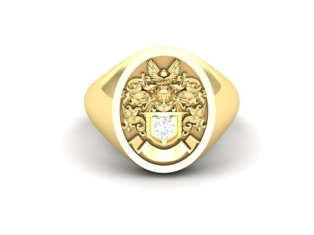 Custom Family Crest Ring Signet Ring Coat Of Arms Ring By