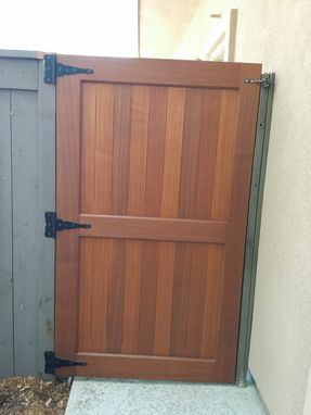 Custom Made Garden Door Made In Sapele Wood