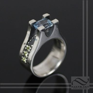 Custom Made Studded - Blue Topaz And Peridot