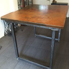 concrete top dining table. Bar Height Dining Table With Concrete Top And Steel Frame