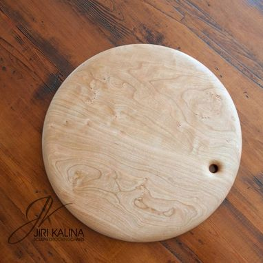 Custom Made Round Cherry Wood Cutting Boards