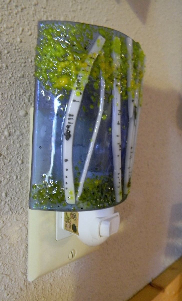 Buy Hand Crafted Aspen Fused Glass Night Light Made To Order From Mountin Designs Custommade Com