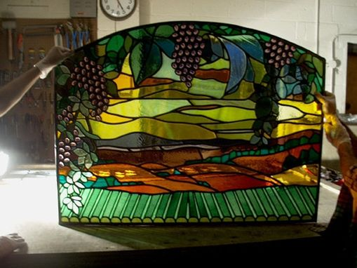 Custom Made Stained Glass Panels - Commercial