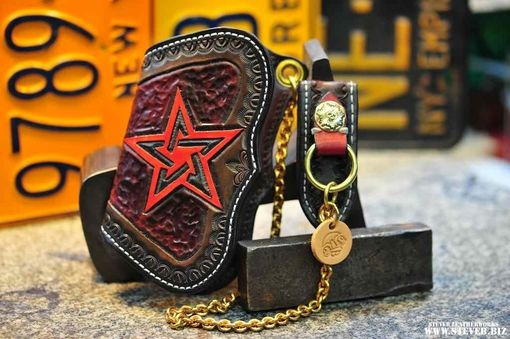 Custom Made Star Scalloped Wallet