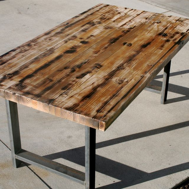Perfect Hand Made Rustic Recycled Butcher Block Dinning Table By The To07