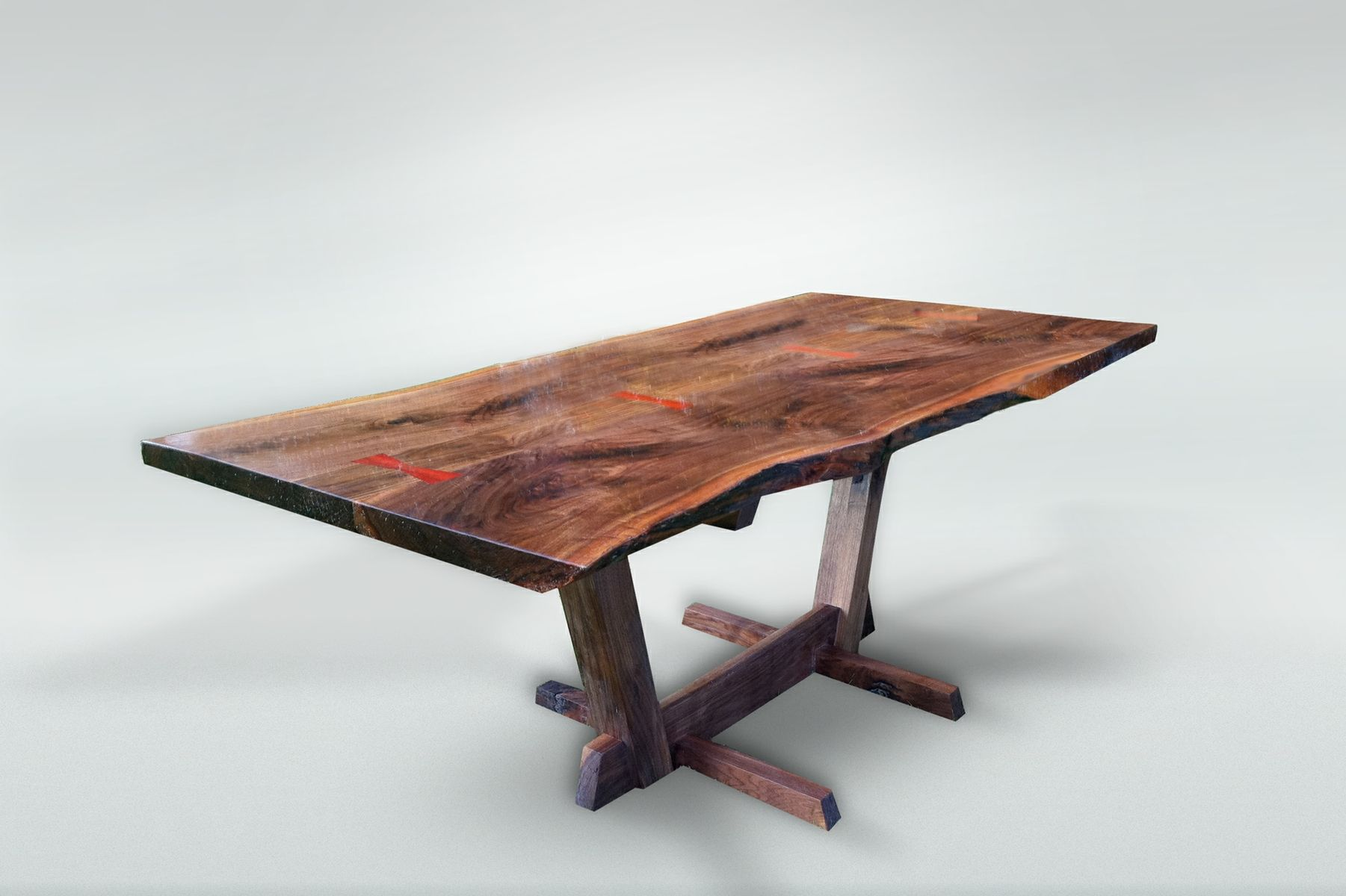 Custom Made Nakashima Style Live Edge Dining Table by The Wood