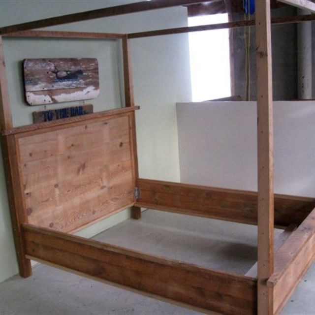 Wood Canopy Beds hand made wooden canopy bedecustomfinishes | reclaimed wood