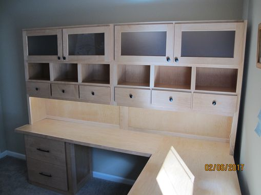 Custom Made L-Shaped Desk With Hutch