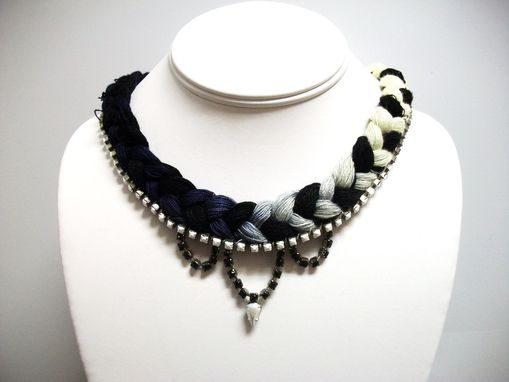 "Custom Made Black And White Necklace ""Whitney''"