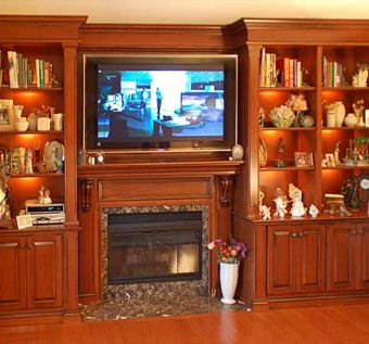 Custom Made Country French Inspired Bookcases And Mantel