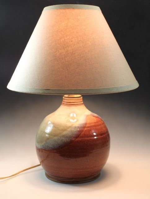 Hand Crafted Ceramic Table Lamp By Bridges Pottery Llc