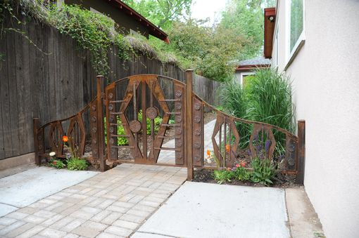 Custom Made Custom Hand Forged Gate And Fence Sections
