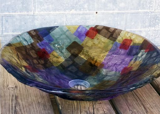 Custom Made Art Deco Style Glass Vessel Sink