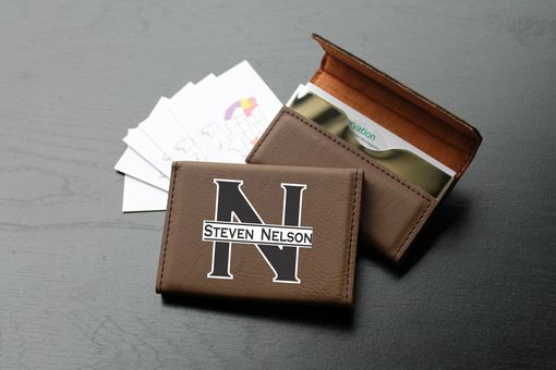 Custom Made Custom Business Card Holder --Bch-Db-Steven Nelson