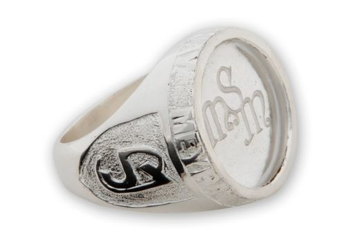 Custom Made Custom Monogram Ring Unusual And Interesting