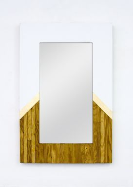 Custom Made Youngblood Mirror Salvaged Wood Mirror