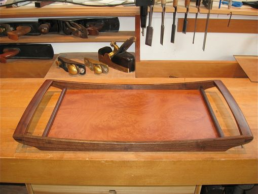 Custom Made Madrone Burl Serving Tray