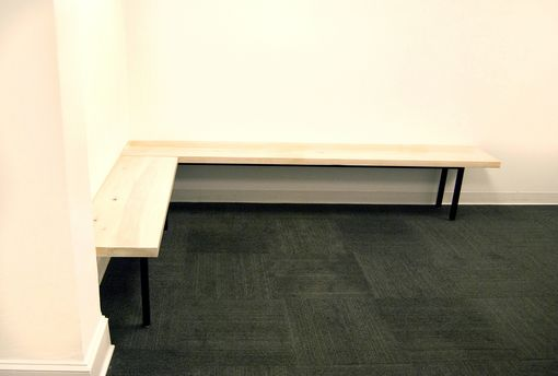 Custom Made Steel + Poplar Benches