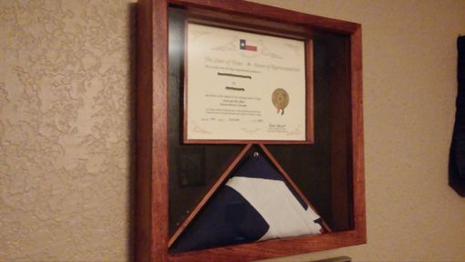 Custom Made Flag And Certificate Shadow Box