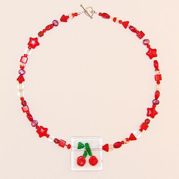 Custom Made Cherry Soda Necklace