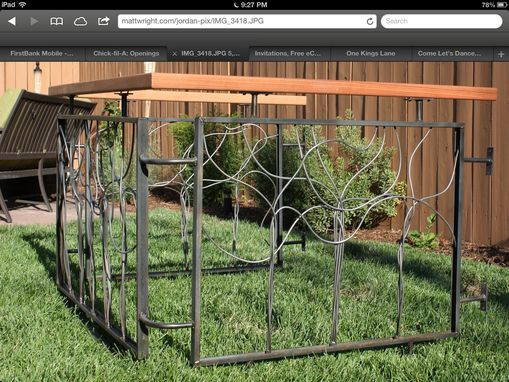 Custom Made Artistic Steel And Wood Fence