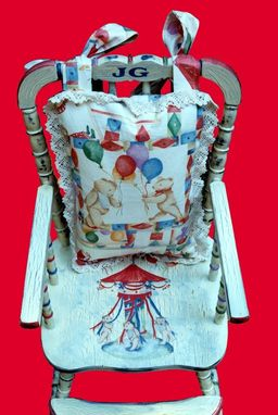 Custom Made Childrens's Antique High Chair