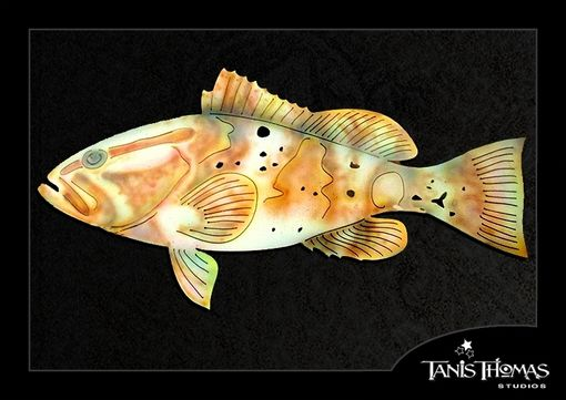 Custom Made Metal Groouper With Airbrushed Finish Wall Art