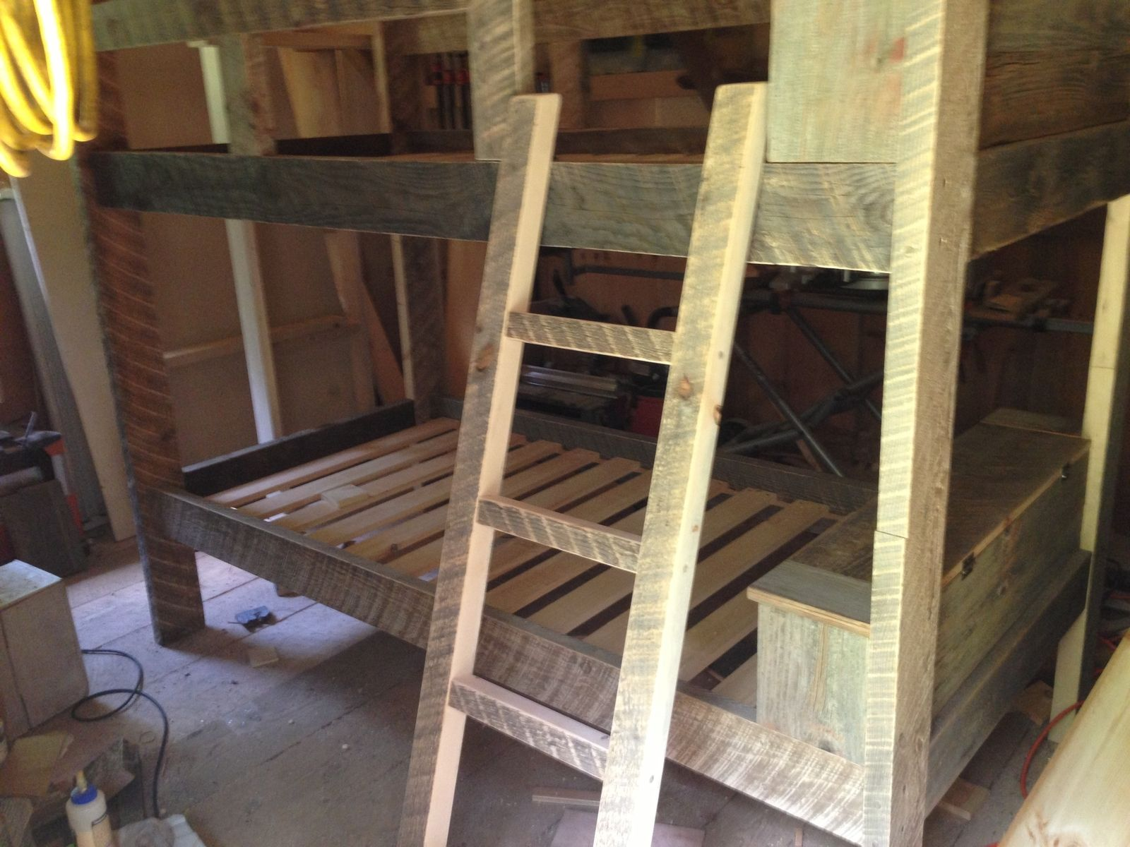 Hand Crafted Reclaimed Bunk Bed by Greene Pepper Woodworking