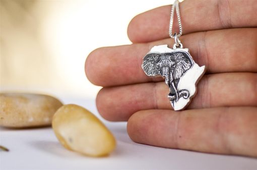Custom Made Elephant Necklace Africa Jewelry Country Pendant