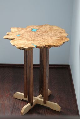 Custom Made Big Leaf Maple Burl - Live Edge Coffee Table