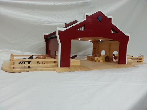 Custom Made Wooden Toy Barn