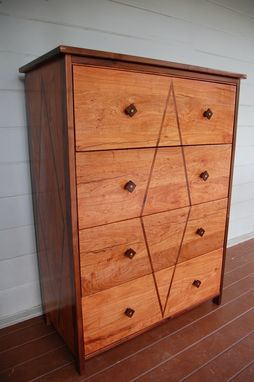 Custom Made Art Deco High Boy Dresser