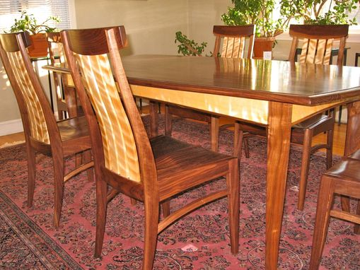 Custom Made Dining Table And Six Chairs