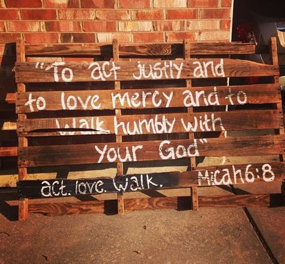 Custom Made Wood Pallet Wall Art