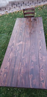 Custom Made Beautiful Farmhouse Trestle Table.