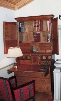 Custom Made Cherry Slant Lid Secretary Desk