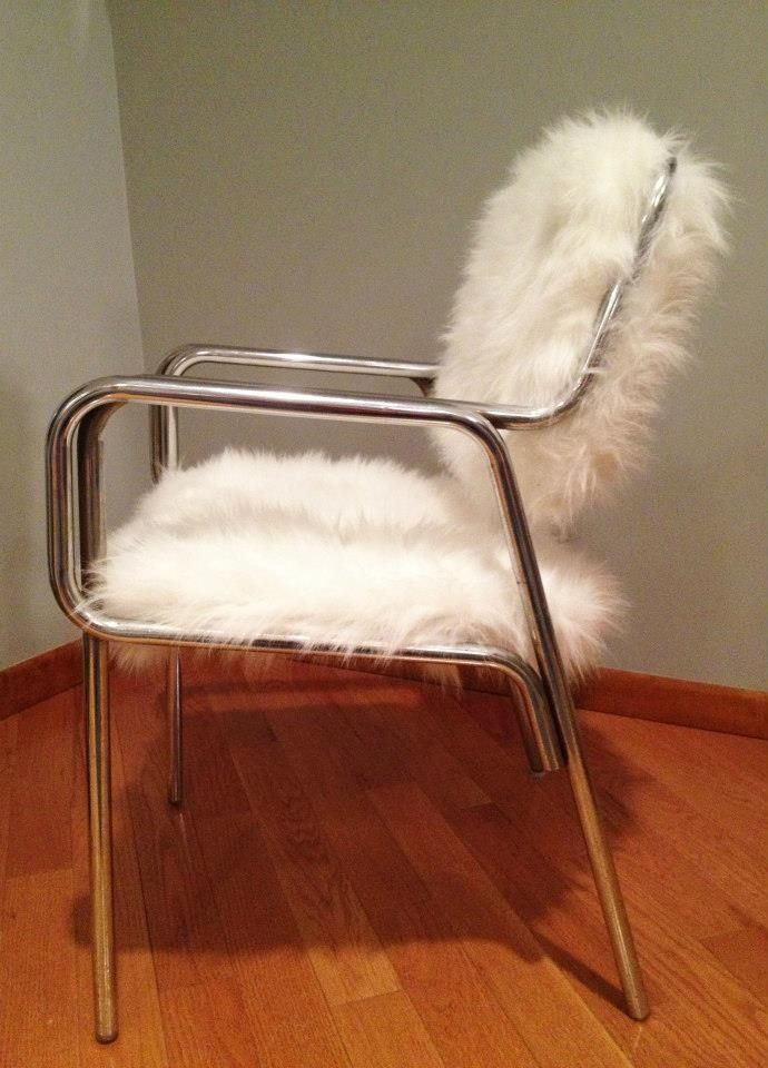 custom made faux fur chair by remix design
