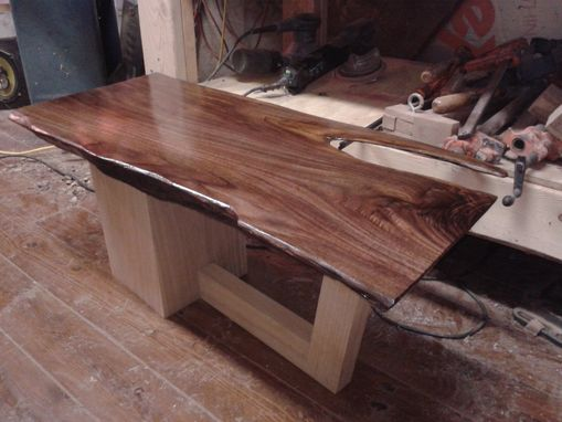 Custom Made Walnut Sofa/Coffee Table