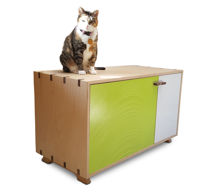 Custom Made Dog Proof Litter Box Cabinet