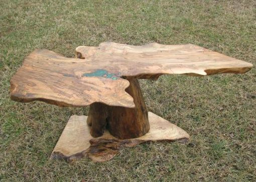 Custom Made Ambrosia Maple Coffee Table, Natural Edge
