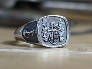 Custom Signet Rings, Family Crest Rings & Coat of Arms Rings