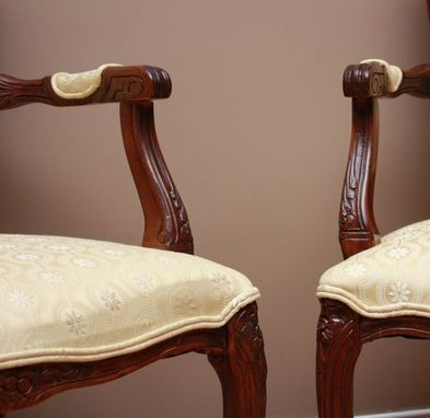 Custom Made French Arm Chairs In Citrus