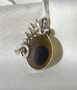 Custom Made Medusa Necklace With Amber Eye Sea Glass