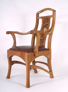 Custom Made Dining Chairs And Arm Chairs With Marquetry Back Panels