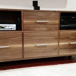 custom tv stands. Black Bedroom Furniture Sets. Home Design Ideas