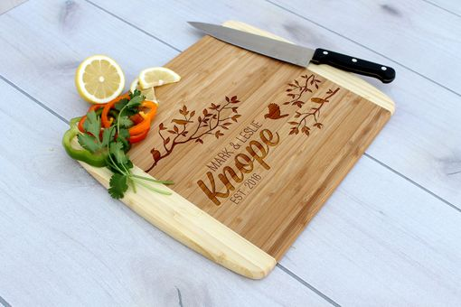 Custom Made Personalized Cutting Board, Engraved Cutting Board, Custom Wedding Gift – Cb-Bam-Knope