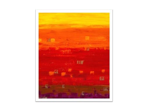 Custom Made Large Fine Art Print-Abstract Original Indian Summer Yellow Orange Red