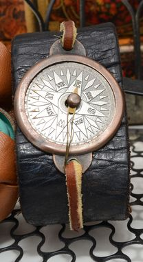 Custom Made Leather Compass