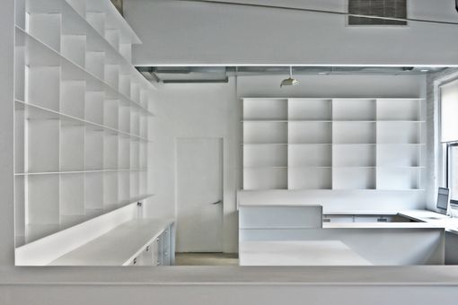 Custom Made Minimal White Powder-Coated Steel Shelves